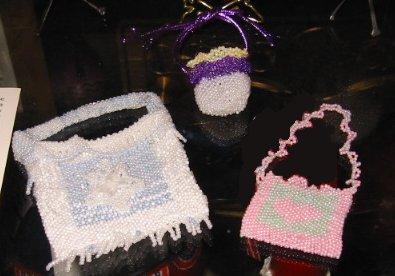 beaded amulet pouches
